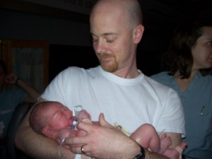 Patrick gets to hold her too.