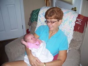 Clara & Grandma have fun together.