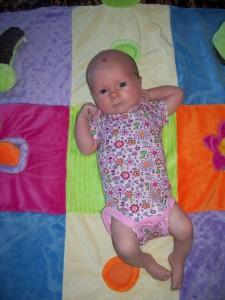Clara at 1 month old
