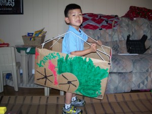 Xander's train all finished